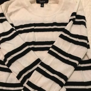 BR wool striped sweater